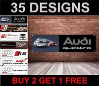 Per Audi Quattro Turbo Banner, per Officina, Garage, Men Cave,Concessionario
