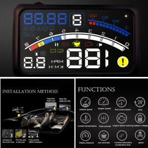 5.5''OBII Car HUD Head Up Display Digital Speeding Warning System Fuel Model Kit