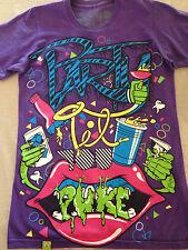 Drop Dead Clothing T-shirt dropdead  PARTY TILL YOU PUKE PURPLE rare