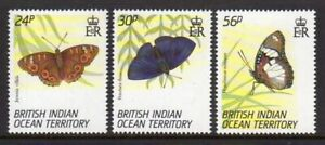 British Indian Ocean Terr. 1994 Butterflies set fine fresh MNH