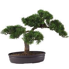"New 16"" Artificial Asian Cedar Bonsai Faux Ornamental Dwarf Tree Table Top Plant"