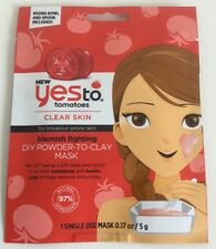 Yes To Tomatoes Clear Skin Blemish Fighting DIY Powder To Clay Mask 5g Brand New