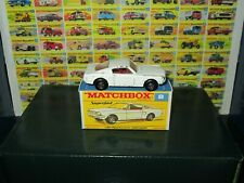 MATCHBOX SUPERFAST #8 FORD MUSTANG *RARE WHITE TRANSITIONAL MODEL* W/BOX