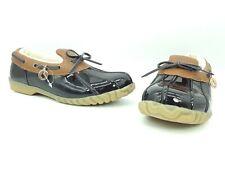Sporto Patty Women Shoes Low Top Duck Loafers Boots Black Sz 6 M