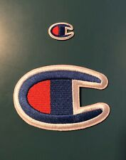 Large Champion Iron On Patch 4 Inches
