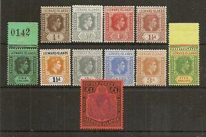 LEEWARD ISLANDS 1938-51 VALUES TO £1 MNH