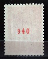 "FRANCE YVERT 1664b SCOTT 1293 "" MARIANNE BEQUET 50c RED CONTROL NUMBER "" MNH VVF"