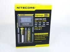 Nitecore Digicharger D2 EU Ladegerät für Li-Ion NiCd NiMH LiFeP04  Akkus