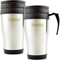 2x Thermo Isolierbecher Edelstahl Kaffee Becher Kaffeebecher Thermobecher 450 ml