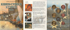 CIPRO CYPRUS 2004 EURO PATTERN PROTOTYPE 8 COIN COLLECTION FDC UNC TIR LIMITATA