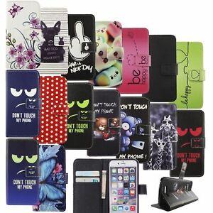 Handyhülle Schutz Tasche Wiko Lenny 4 Jerry 2 ZTE Blade L7 Bookstyle Case Cover