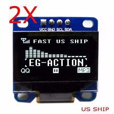 """2X 0.96"""" I2C IIC Serial 128X64 LED OLED LCD  Display Module for Arduino White"""