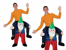 Carry Me Piggy Back Gnome Funny Adults Mascot Fancy Dress Up Party Dwarf Outfit
