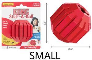 """Kong Stuff A Ball - (1) SMALL 2.5"""" Interactive Rubber Dog Toy - Stuff w/Treats"""
