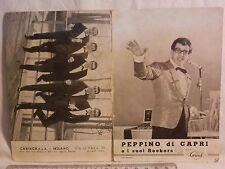 Vecchio depliant PEPPINO DI CAPRI E I SUOI ROCKERS Foto Ferruccio Dischi Carisch
