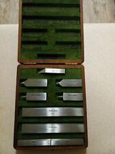 Vintage Doall Rectangular Gage Block Accessories Set With Original Box