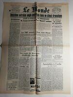 N408 La Une Du Journal Le Monde 6 décembre 1950 anglo-américains climat dramatiq