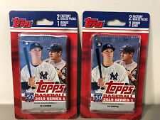 2019 Topps Series 1 Blister Pack w/ Bonus Card - Party City - Sealed - LOT of 2
