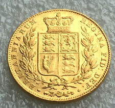 1845  victoria  shield full  sovereign @ agd12