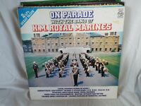 BAND OF HM ROYAL MARINES - On Parade With - Double LP Record MFP 1015
