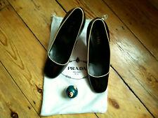 Zapatos de Cuero Prada Negro para Mujeres-Tamaño 3/36