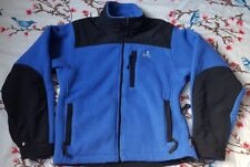 EMS Womens Polartec Fleece Blue & Black Front Zip MultiPocket Outdoor Coat Sz Sm