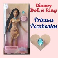 "Disney Parks Princess Pocahontas Classic 11.5"" Dolls With Rings"