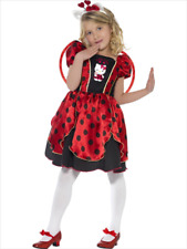 Smiffys hello kitty ladybug fairy childs small fancy dress costume 7-9 years