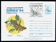 1994 Greater death's head hawkmoth,Acherontia atropos,Butterfly,Romania,PS cover