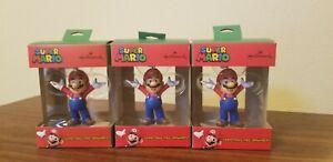 Lot of 3 Hallmark Super Mario Bros Mario Christmas Tree Holiday Ornament 2020