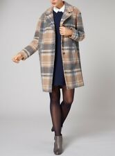 New Womens Wool Coat Fashion Branded Lined Button Jacket Luxury Bargain RRP £50