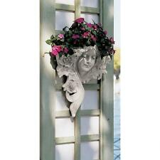 Art Nouveau French Summer Lady Wall Planter Sculpture Greenman