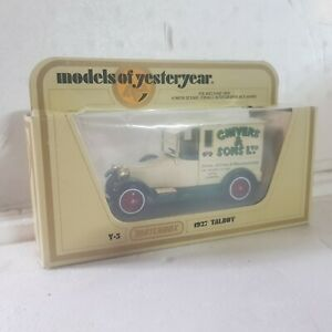 Vintage Matchbox models of yesteryear y5 1927 Talbot chivers & sons