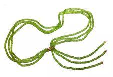 Yossi Harari PERIDOT 24k Gold adjustable tie scarf Necklace August Birthstone