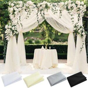 Wedding Decoration Organza DIY Wedding Flower Arch Tulle Backdrop Hanging Decor