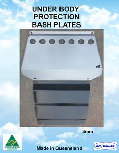BASH PLATE SET SILVER 4mm Heavy Duty to suit Mitsubishi Triton MQ/MR 2015-2021