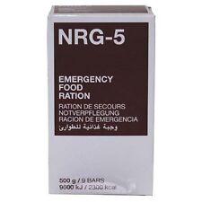 Notverpflegung nrg-5 1 envase 500 G (9 cerrojos) survival food MFH nuevo