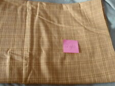 2 yds Quilting Sewing Fabric Tan Squares Lines Checkered Pattern