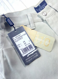 Trussardi Jeans 27 UK tg. 40  sigaretta jeans beige donna Made in Italy RP € 90