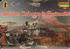 1/72 Ww1 Russian Infantry in Gasmasks Strelets M058