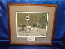 """Framed Signed """"Finders Keepers"""" by James Campbell, Duck Decoy & Killdeer"""