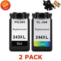 PG243XL CL244XL Black Color Ink Set For Canon Pixma iP2820 MG2520 MG2550 MX495