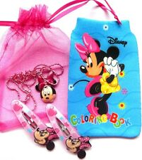 Minnie Mouse Gift Set - Necklace/Hairclips/phone sock Party Pack Loot Christmas