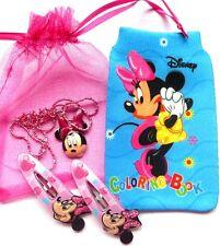 Minnie Mouse Set - Halskette/Hairclips/handy socke Partypack Beute Weihnachten