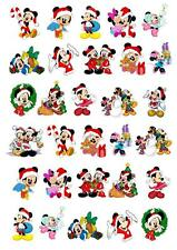 Disney Christmas Xmas  STAND UP Cupcake Cake Topper Edible  Decorations