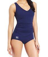 Speedo Womens Swimwear Blue Size 16 One Piece Chlorine Resistant $84- 154