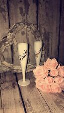 Plastic Personalised Champagne Flutes