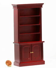 Dollhouse Furniture Mahogany Bookshelves with Crown Molding
