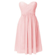 Strapless Chiffon Short Prom Dress for Women Bridesmaid Evening Party Cocktail