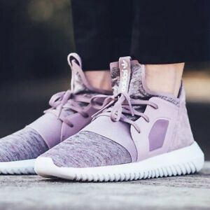 Adidas Tubular Women's Size 8.5 Defiant Purple Sneakers Shoes
